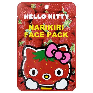 Sanrio - Narikiri Face Pack Facial Beauty Mask (Hello Kitty) (Strawberry) 1 pc