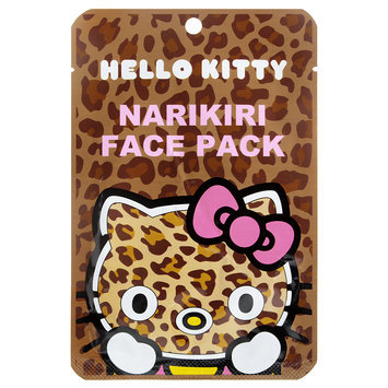 Sanrio - Narikiri Face Pack Facial Beauty Mask (Hello Kitty) (Leopard) 1 pc