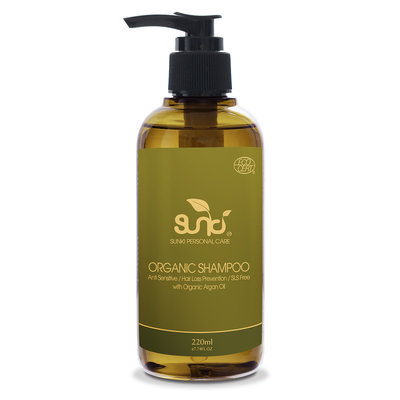 Sunki - Organic Shampoo with Organic Argan Oil 220ml