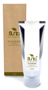 Sunki - Fluoride Free Toothpaste with Organic Aloe Leaf 110g
