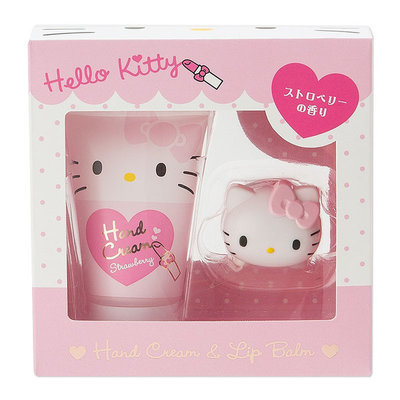 Sanrio - Hello Kitty Hand Cream & Lip Balm Set 2 pcs