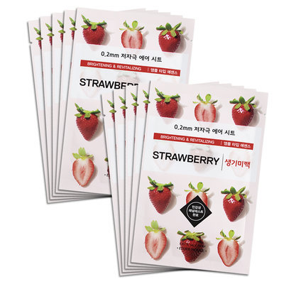 Etude House - 0.2 Therapy Air Mask (Strawberry) 10 pcs
