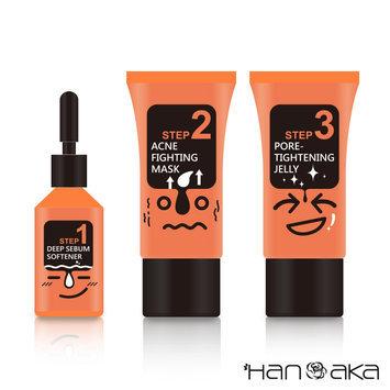 HANAKA - Black Head Pore Cleanser Set 3 pcs