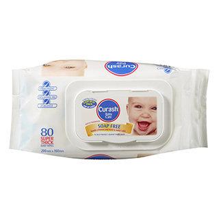 Curash - Soap Free Wipes 80 pcs