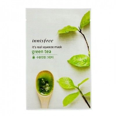 Innisfree It's Real Squeeze Mask - Green Tea 10pcs