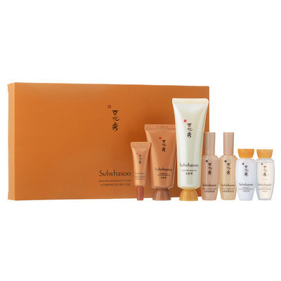 Sulwhasoo - Skincare Master Kit: Gentle Cleansing Oil EX 15 ml + Gentle Cleansing Foam EX 15ml + Essential Balancing Water EX 15ml + Essential Balancing Emulsion EX 15ml + Concentrated Gingseng Renewing Eye Cream 3ml + Clarifying Mask EX 50ml + Overnight