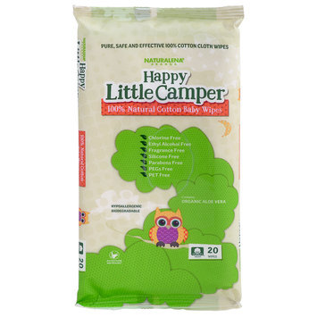 Happy Little Camper - 100% Natural Cotton Baby Wipes 20 sheets
