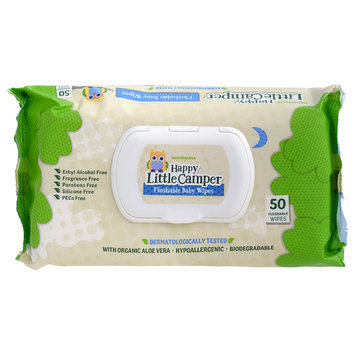 Happy Little Camper - Flushable Baby Wipes 50 sheets