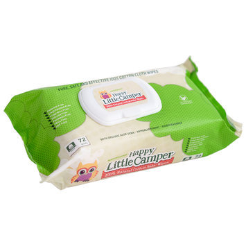 Happy Little Camper - 100% Natural Cotton Baby Wipes 72 sheets