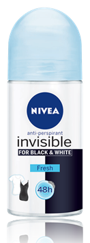 NIVEA - 48h Women Deo Invisible Black and White Fresh Roll-On 50ml