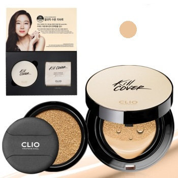 Clio Professional Kill Cover Liquid Founwear Ampoule Cushion Foundation SPF 50+/Pa+++ Set & Refill 3