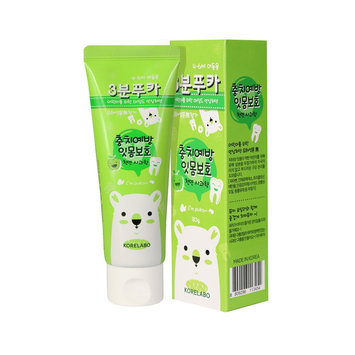 KORELABO - 3 Minutes Puka Green Apple Toothpaste 80g x 2 pcs