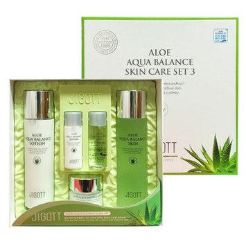 Jigott - Aloe Aqua Balance Skin Care Set 3: Toner 150ml + Toner 30ml + Lotion 150ml + Lotion 30ml + Cream 50ml 5 pcs