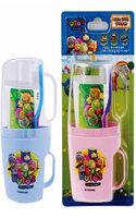 EQMAXON Corp. - Navi Hutos Kids Oral Care Set (Random Color): Toothbrush Cup 2 pcs + Toothpaste 90g + Toothbrush 1 pc 4 pcs