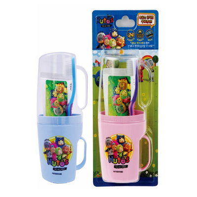 EQMAXON Corp. - Navi Hutos Kids Oral Care Set (Random Color): Toothbrush Cup 2 pcs + Toothpaste 90g + Toothbrush 1 pc 4 pcs