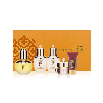 The History of Whoo - Wild Ginseng Ampule Oil Special Set: Balancer 25ml + Lotion 25ml + Mask 30ml + Cream 10ml + Oil 30ml 5 pcs