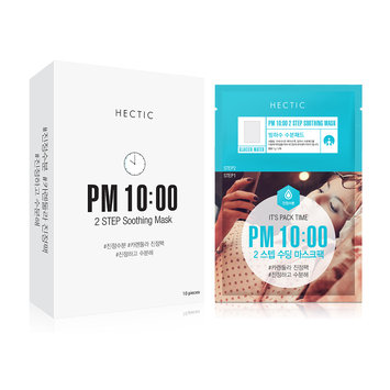 HECTIC - It's Pack Time PM 10:00 Step Soothing Mask 10 pcs