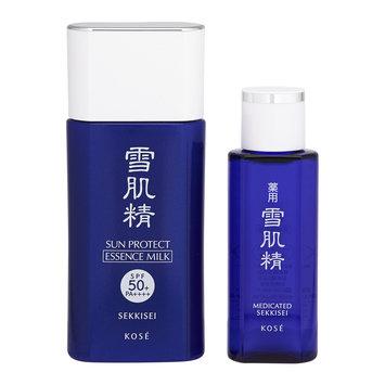 Kose - Sekkisei Sun Protect Milk Set: Essence Milk SPF 50+ PA++++ 55ml + Lotion 24ml 2 pcs