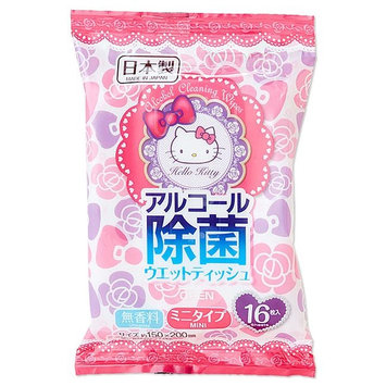 Sanrio - Hello Kitty Alcohol Cleaning Wipes Set 16 pcs x 2