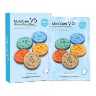 Rainbow - Laffair Multi-Care V5 Moisture Vitamin Mask (Blue) 10 pcs
