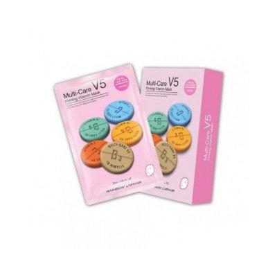 Rainbow - Laffair Multi-Care V5 Firming Vitamin Mask (Pink) 10 pcs