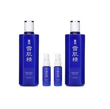 Kose - Medicated Sekkisei Lotion Duo Set: Lotion 360ml x 2 pcs + Emulsion 20ml x 2 pcs 4 pcs