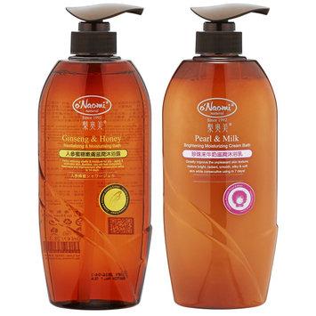 O'naomi oNaomi - Bath Set: Ginseng & Honey Revitalizing & Moisturizing Bath 800ml + Pearl & Milk Brightening Moisturizing Cream Bath 800ml 2 pcs