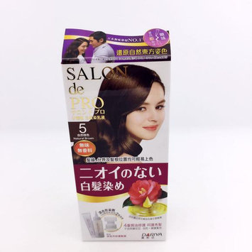 DARIYA - Salon de Pro Grey Hair Coloring Liquid (#5 Natural Brown) 1 set
