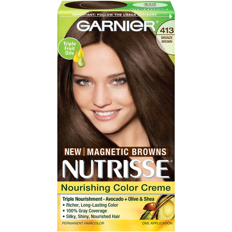 Garnier Nutrisse Nourishing Colour Cream, 413 Bronze Brown ...