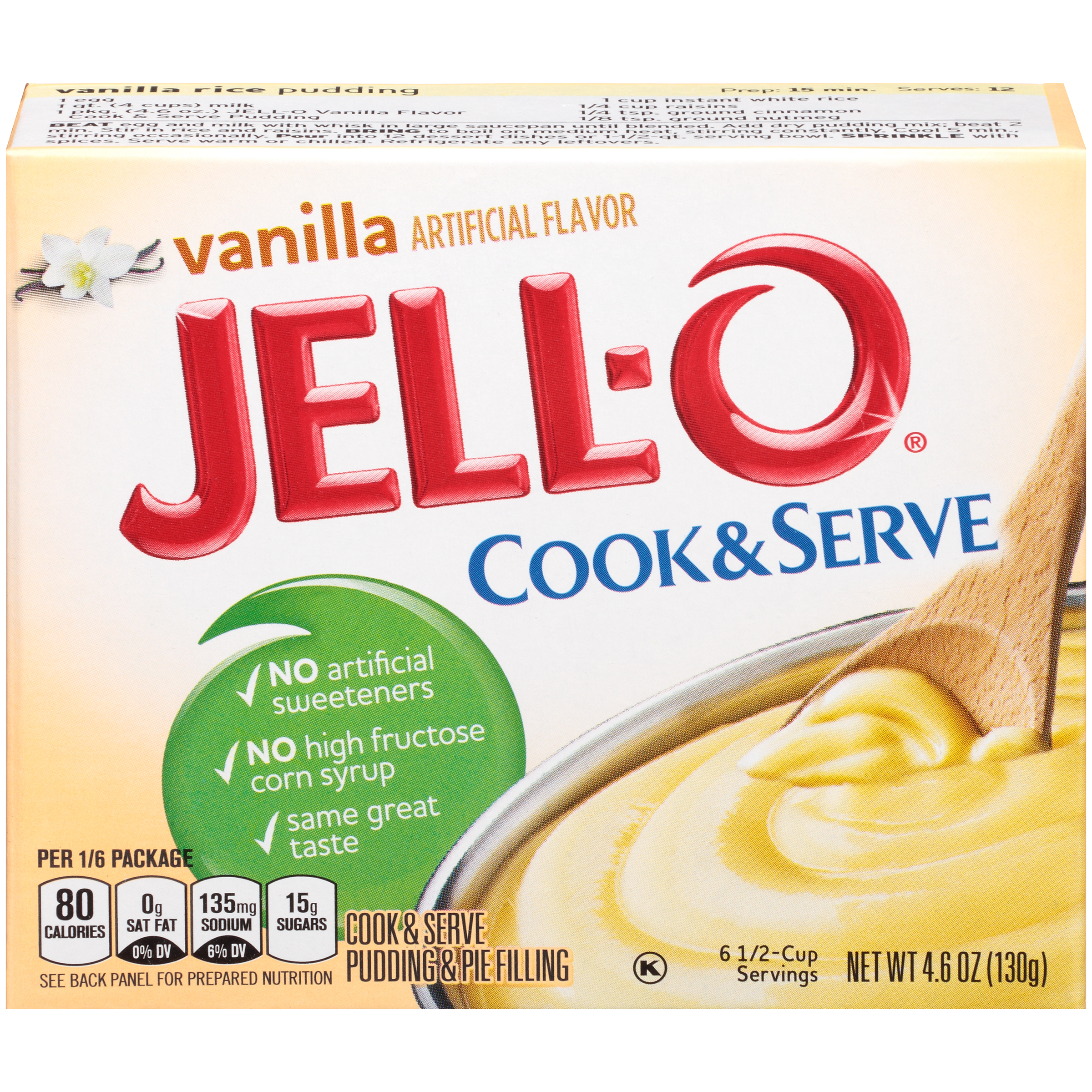 Jell-O Cook & Serve Vanilla Pudding & Pie Filling