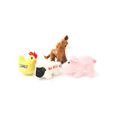 Copa Judaica Chewish Treats Barnyard Buddies Pet Toys Bundle