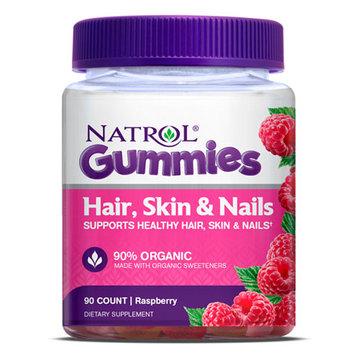Natrol Hair Skin and Nails Gummies- Raspberry