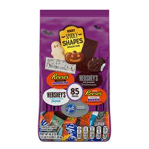 Hershey Spooky Shapes Halloween Snack Size Assortment, 43.8 Oz Bag, 85 Pieces
