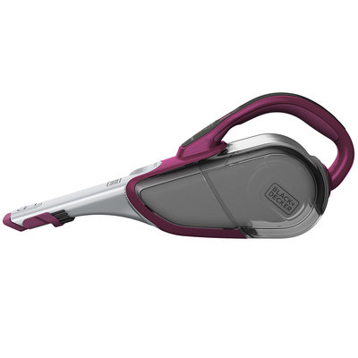 Black & Decker SMARTECH Cordless Lithium Hand Vacuum with Scent (Eggplant Purple) - 22 W Air Watts - Filter, Crevice Tool, Upholstery Tool, Brush - Bare Floor, Carpet - Battery - Eggplant Purple