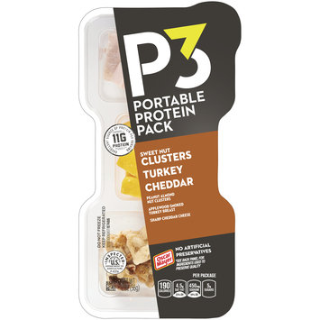 Oscar Mayer P3 Nut Clusters Peanut Almond Nut Clusters, Cheddar & Turkey Breast Portable Protein Pack