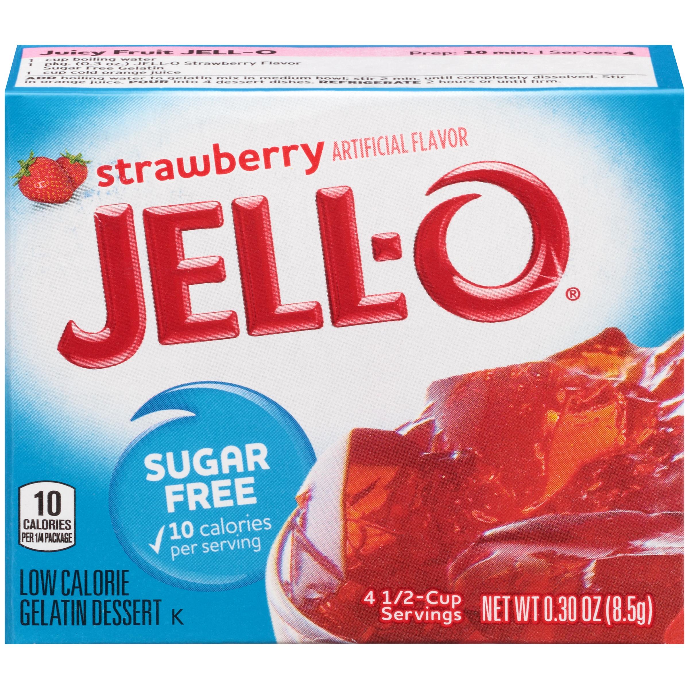 Jell-O Strawberry Sugar-Free Gelatin Mix