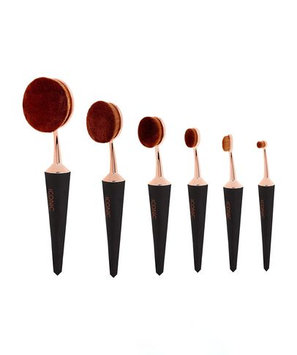 Iconic London Complete EVO Brush Set of 6 - Black and Gold