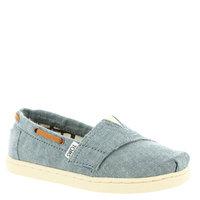 Toddler TOMS 'Bimini' Chambray Slip-On, Size 5 M - Blue