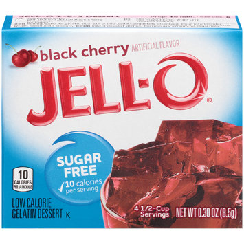 Jell-O Black Cherry Sugar Free Gelatin Mix