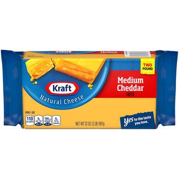 Kraft Medium Natural Cheddar Cheese Block