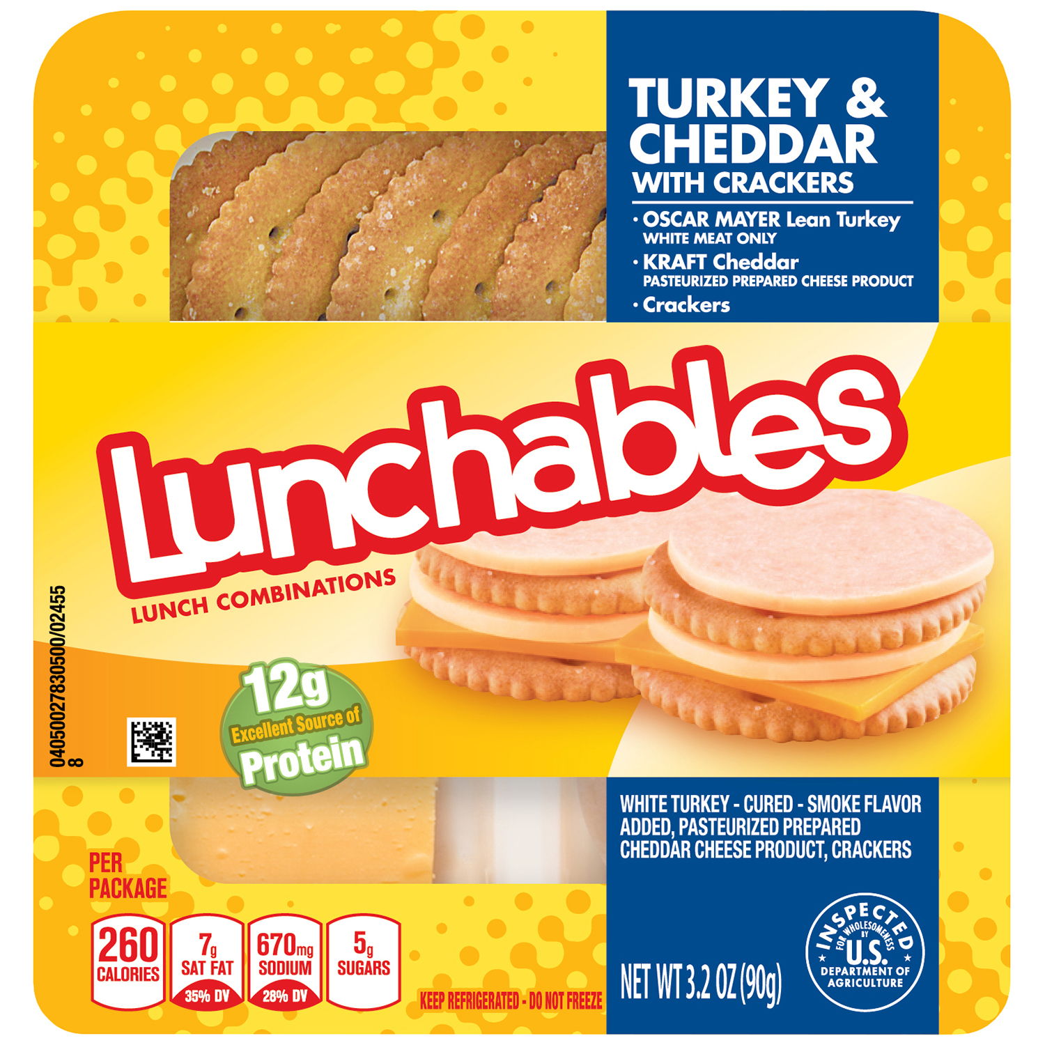 Lunchables Turkey & Cheddar with Crackers Convenience Meal