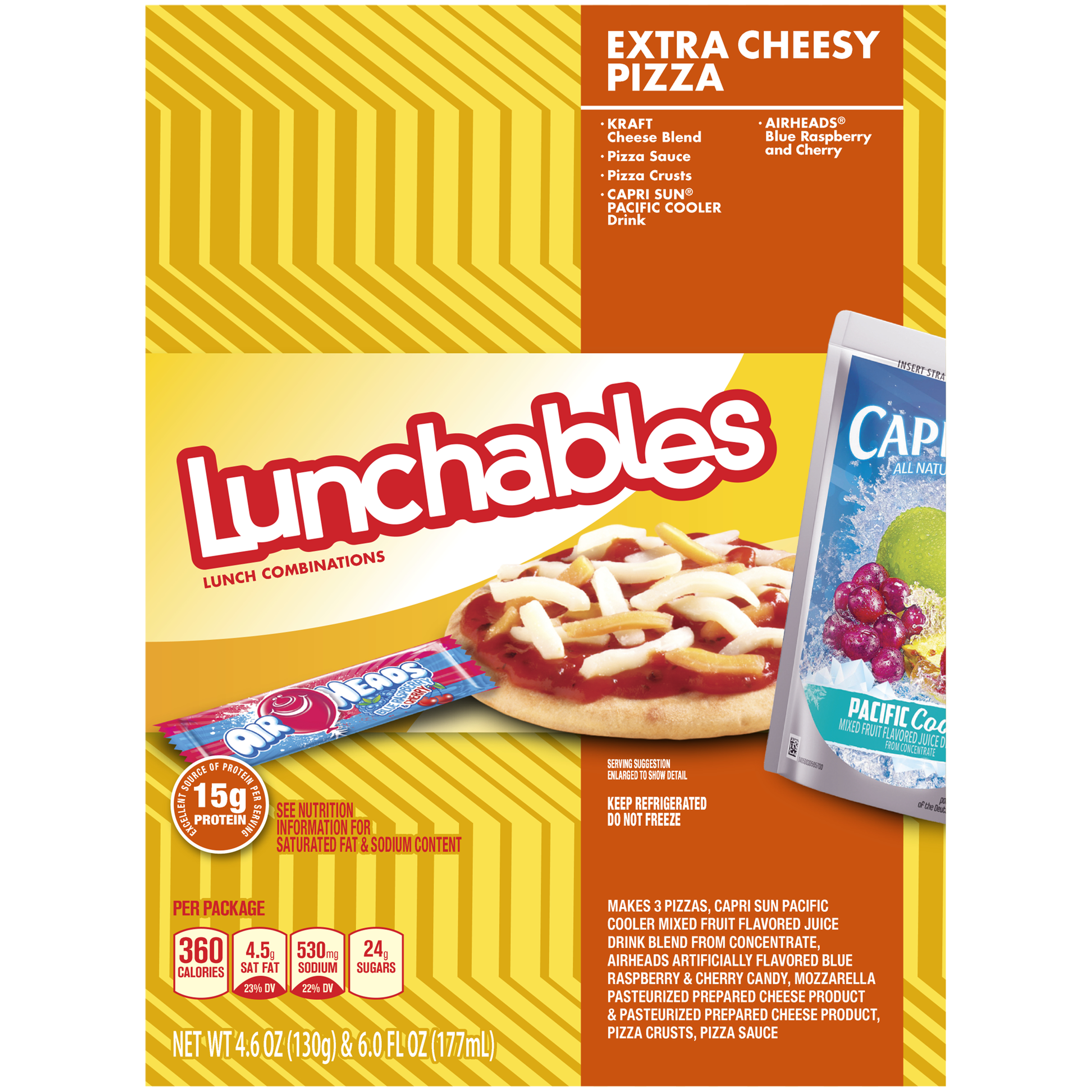 Lunchables Extra Cheese Pizza Convenience Meal