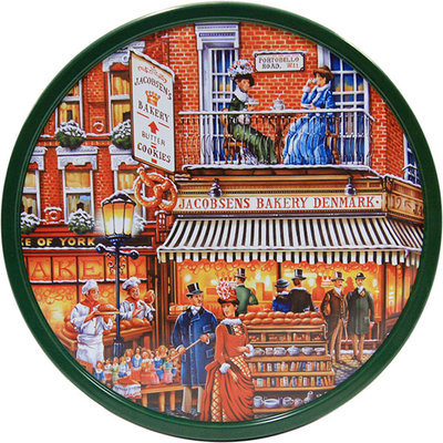 Jacobsens Bakery Danish Butter Cookies Gift Tin - Portobello Road, 4 lb