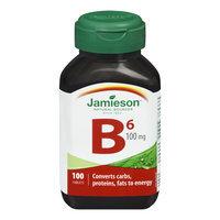 Jamieson Vitamin B6 100 mg (Pyridoxine)