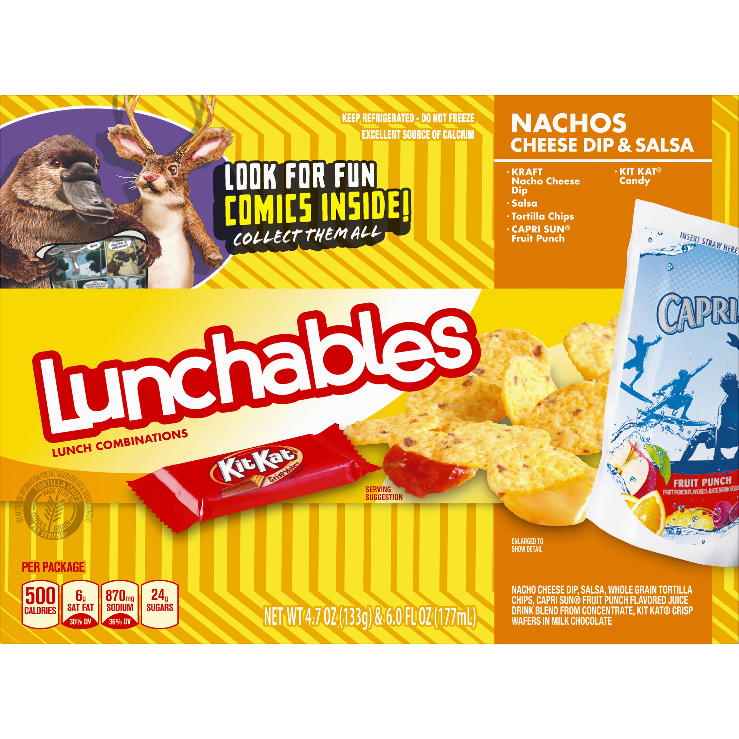 Lunchables Nacho Cheese Dip & Salsa with Capri Sun Convenience Meal