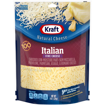 Kraft Italian Five Cheese Shredded Natural Cheese