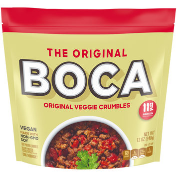 Boca Veggie Ground Crumbles Made with Non-GMO Soy