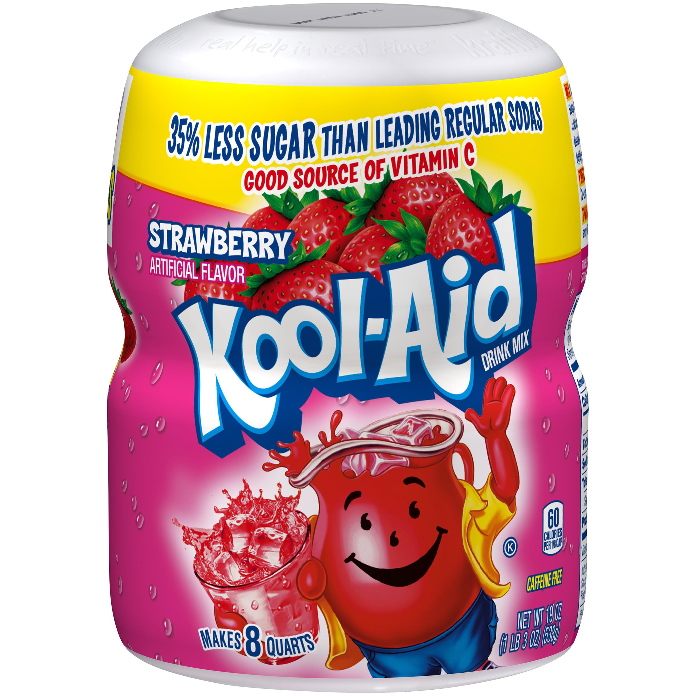 Kool-Aid Sugar-Sweetened Strawberry Powdered Soft Drink