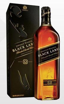 Johnnie Walker Black Label Scotch - Liter