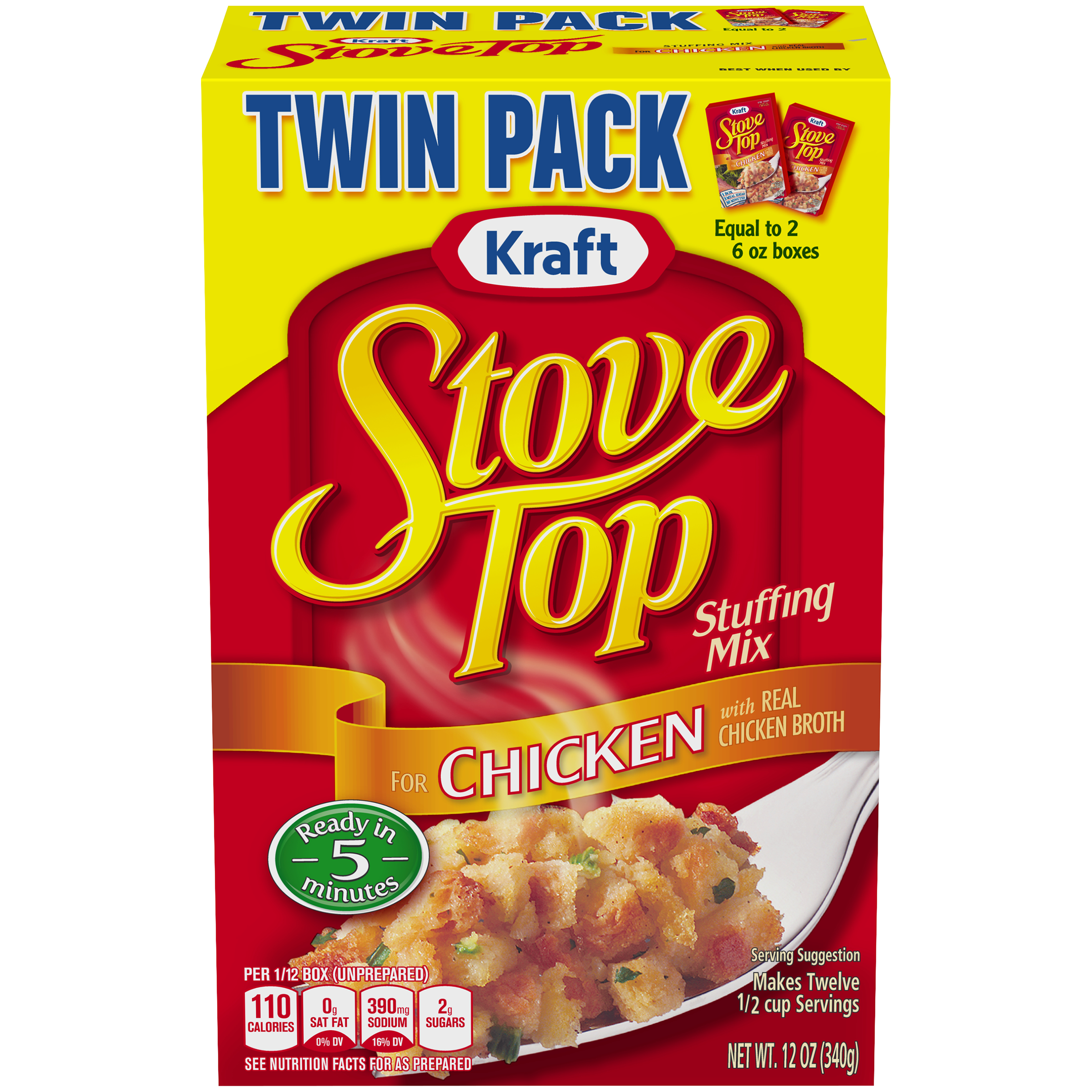 Stove Top Twin Pack Stuffing Mix For Chicken